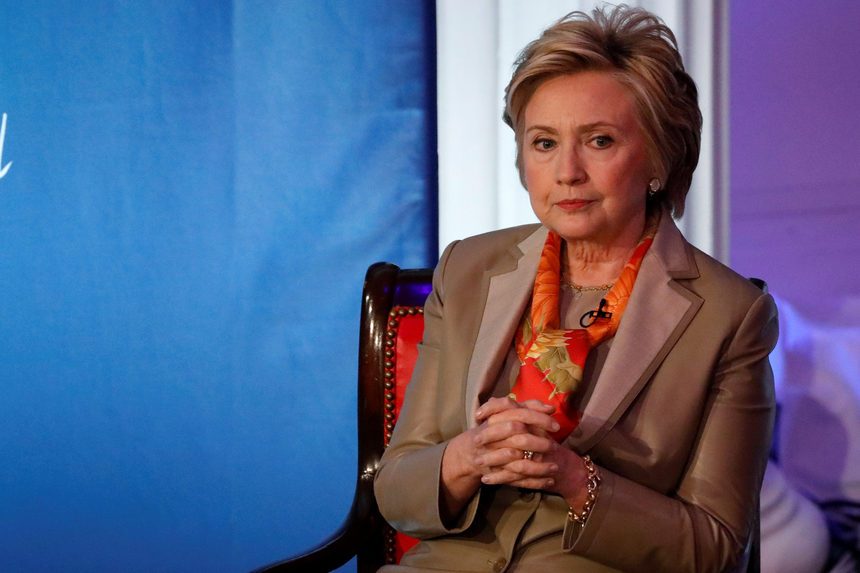 Former U.S. Secretary of State Hillary Clinton takes part in the Women for Women International Luncheon in New York City, New York, U.S., May 2, 2017. REUTERS/Brendan McDermid