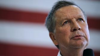 Republican U.S. presidential candidate John Kasich speaks during a town hall meeting at Thomas Farms Community Center, in Rockville, Maryland, U.S., April 25, 2016. REUTERS/Carlos Barria