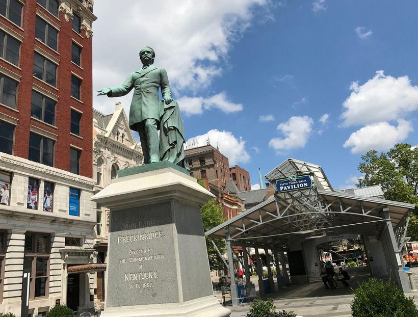 John C. Breckinridge's statue is located less than a mile from Transylvania University's campus where Breckinridge on