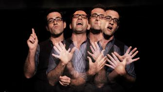 NEW YORK, NY - SEPTEMBER 13: (EDITORS NOTE: Multiple exposures were combined in camera to produce this image.) Director and Producer Ben Rimalower Performs Patti Issues at The Duplex on September 13, 2012 in New York City.  (Photo by Wendell Teodoro/WireImage)