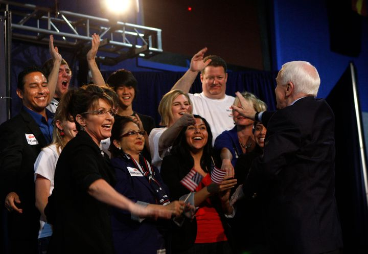 Vice presidential candidate Sarah Palin, with Sen. John McCain at a presidential campaign rally in Arizona in 2010, regularly