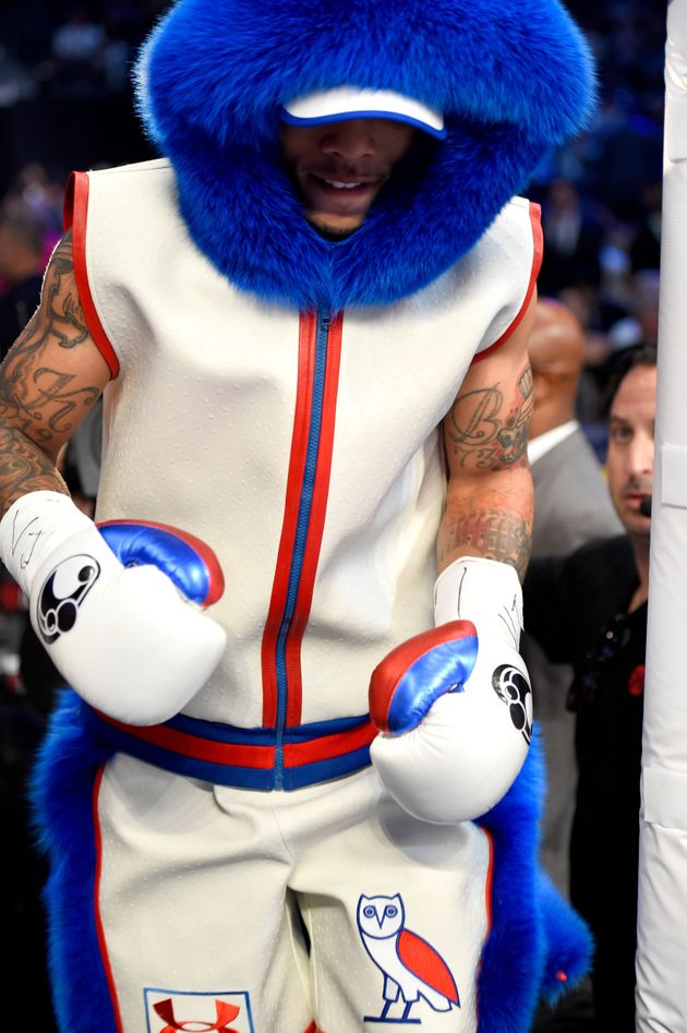 A Blue Fuzzy Fighter Stole The Spotlight Before Mayweather-McGregor