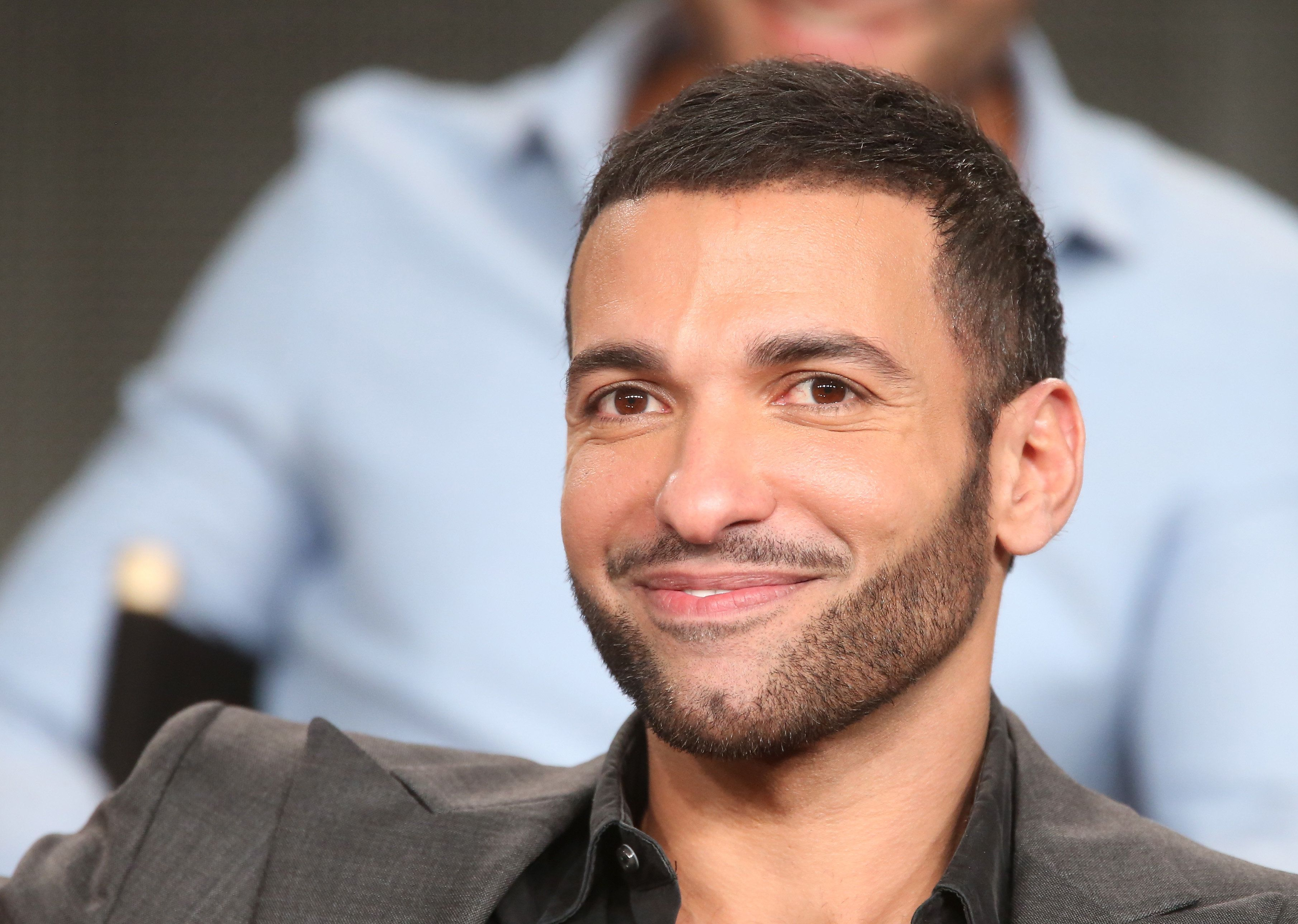 PASADENA, CA - JANUARY 07:  Actors Haaz Sleiman speaks onstage during the National Geographic's 'Killing Jesus' panel at the 2015 Winter Television Critics Association press tour at the Langham Huntington Hotel & Spa on January 7, 2015 in Pasadena, California.  (Photo by Frederick M. Brown/Getty Images)