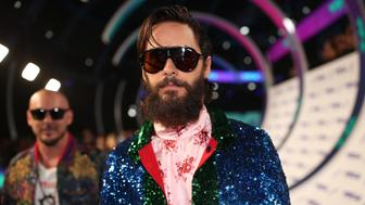 INGLEWOOD, CA - AUGUST 27:  Jared Leto attends the 2017 MTV Video Music Awards at The Forum on August 27, 2017 in Inglewood, California.  (Photo by Christopher Polk/Getty Images)