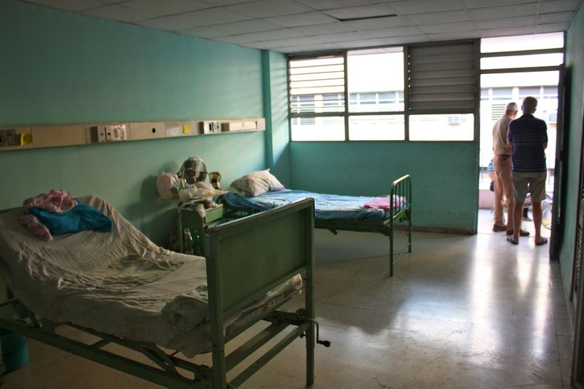 Hospital ward in Cuba.