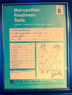 M. Schneider's Metropolitan Readiness Test for First Grade (1973)