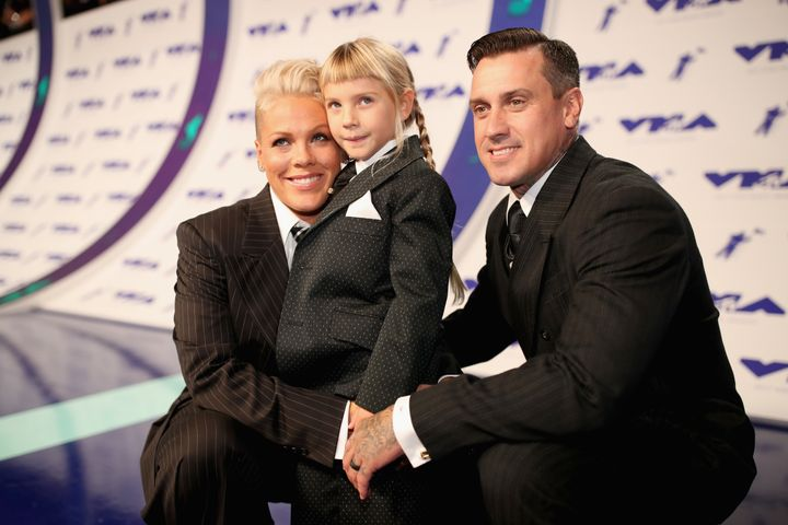 Pink and her husband, Carey Hart, attended the VMAs with their daughter, Willow.