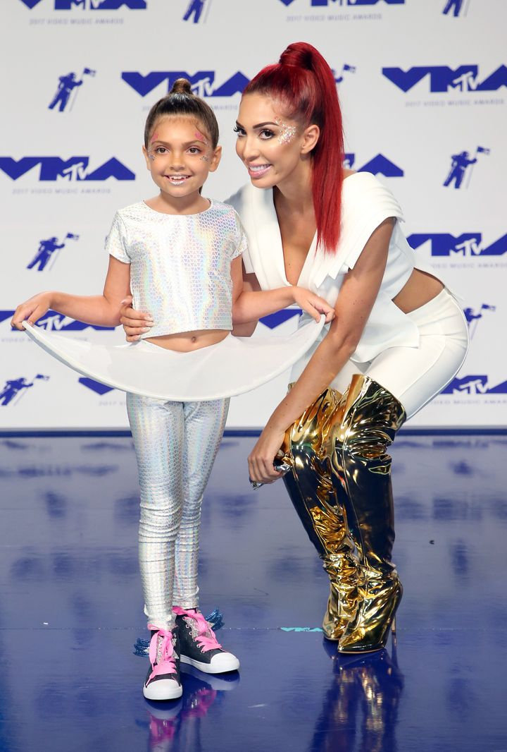 Farrah Abraham brought her 8-year-old daughter, Sophia, to the VMAs.
