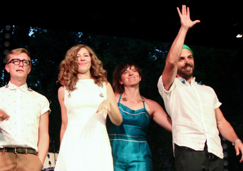 "Members of Lake Street Dive (from left) Michael ""McDuck"" Olson, Rachael Price, Bridget Kearney and Michael Calabrese acknowle"