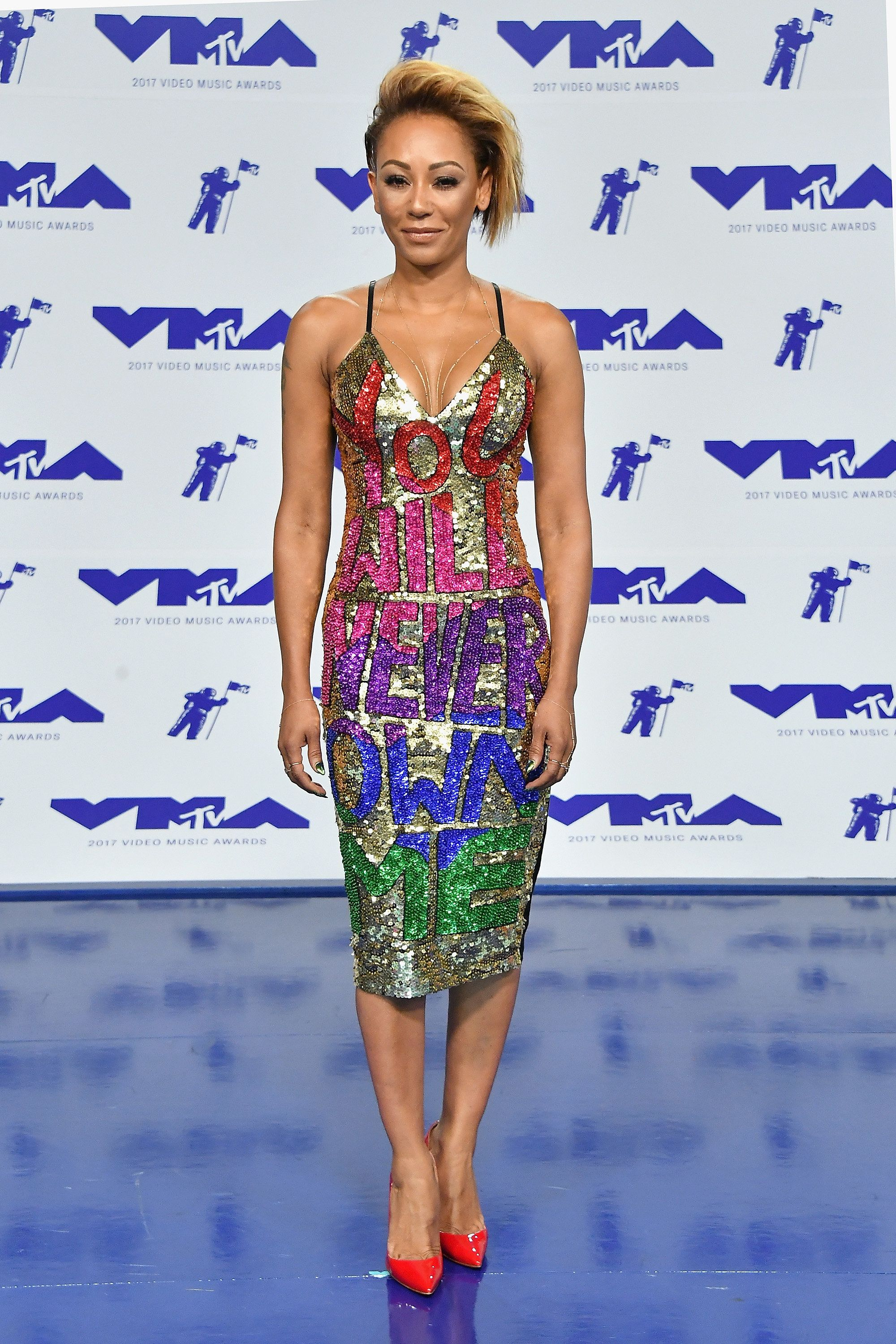 Mel B Makes Very Public Statement With Her VMAs 'Revenge Dress'