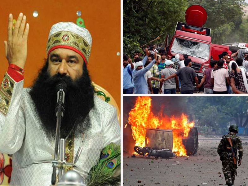 <em>Conviction of self-styled godman for raping two women in India led to rampage in many north Indian cities</em>