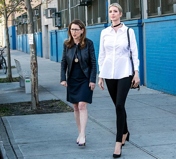 Eva with Ivanka, who visited a Success Academy school in Manhattan.