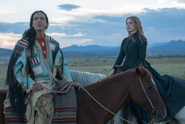A still from upcoming release 'Woman Walks Ahead' starring Jessica Chastain
