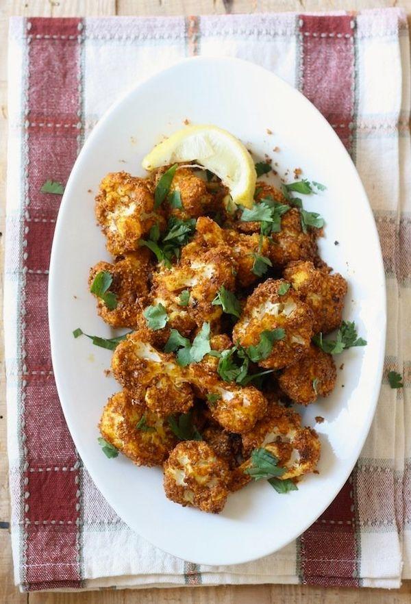 "<strong>Get the <a href=""http://blog.seasonwithspice.com/2013/11/tandoori-roasted-cauliflower-recipe.html"" target=""_blank"">Ta"