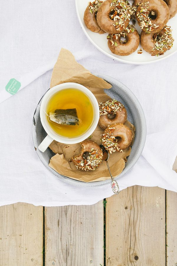 """<strong>Get the <a href=""""http://www.thefirstmess.com/2013/10/23/vegan-gf-maple-doughnuts-w-salted-almond-butter-glaze/"""" targe"""