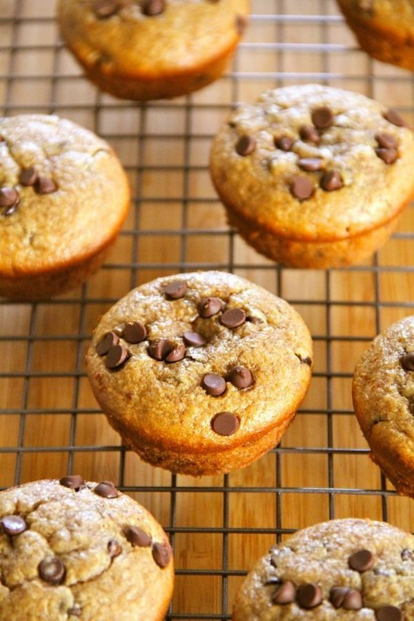 """<strong>Get the <a href=""""http://www.runningwithspoons.com/2014/01/21/flourless-chocolate-chip-almond-butter-muffins/"""" target="""