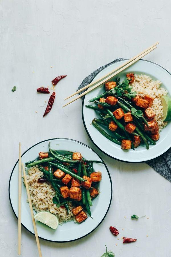 """<strong>Get the <a href=""""https://minimalistbaker.com/almond-butter-tofu-stir-fry/"""" target=""""_blank"""">Almond Butter Tofu Stir-Fr"""