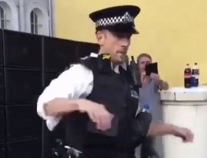 The Dancing Police Officer At Notting Hill Carnival is Just