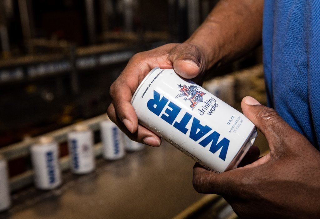 The Anheuser-Busch Brewery is sending more than 155,000 cans of emergency drinking water to those hard-hit...