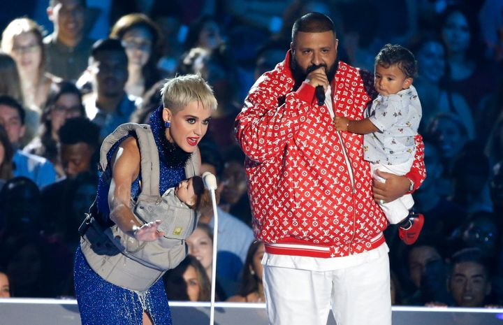 DJ Khaled and Asahd even got to make an onstage appearance with Katy Perry during the show.