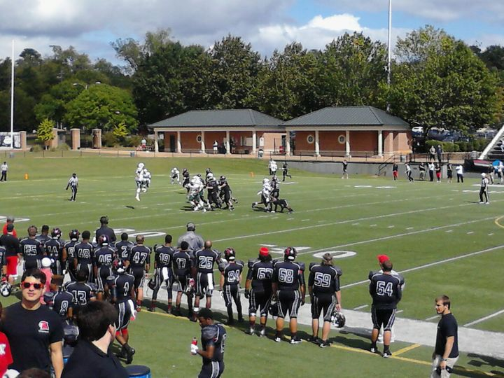 Picture is from a Division III Football Game.