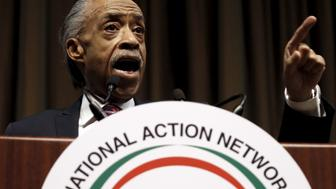 The Reverend Al Sharpton addresses the National Action Network's 25th Annual Convention in New York City, April 13, 2016.  REUTERS/Mike Segar
