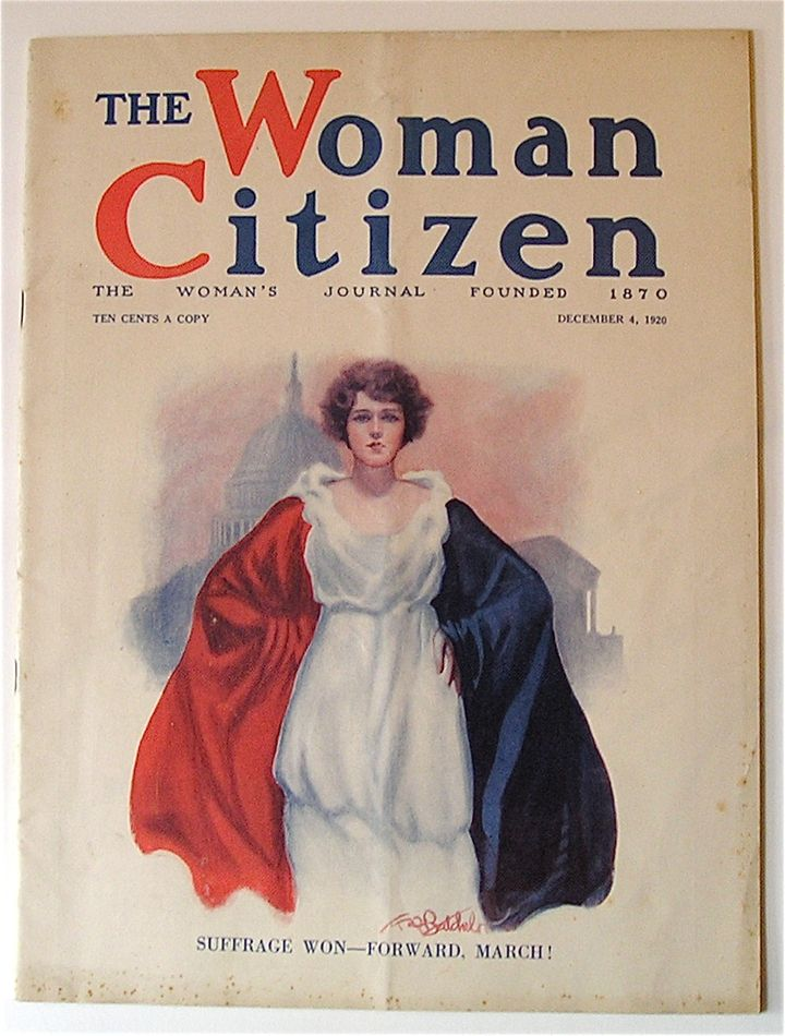 The cover of The Woman's Journal when the 19th Amendment was passed in 1920.