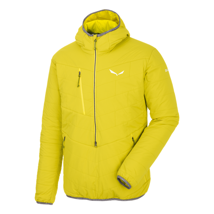 The Salewa Puez Half Zip jacket made with  TirolWool Celliant textiles.
