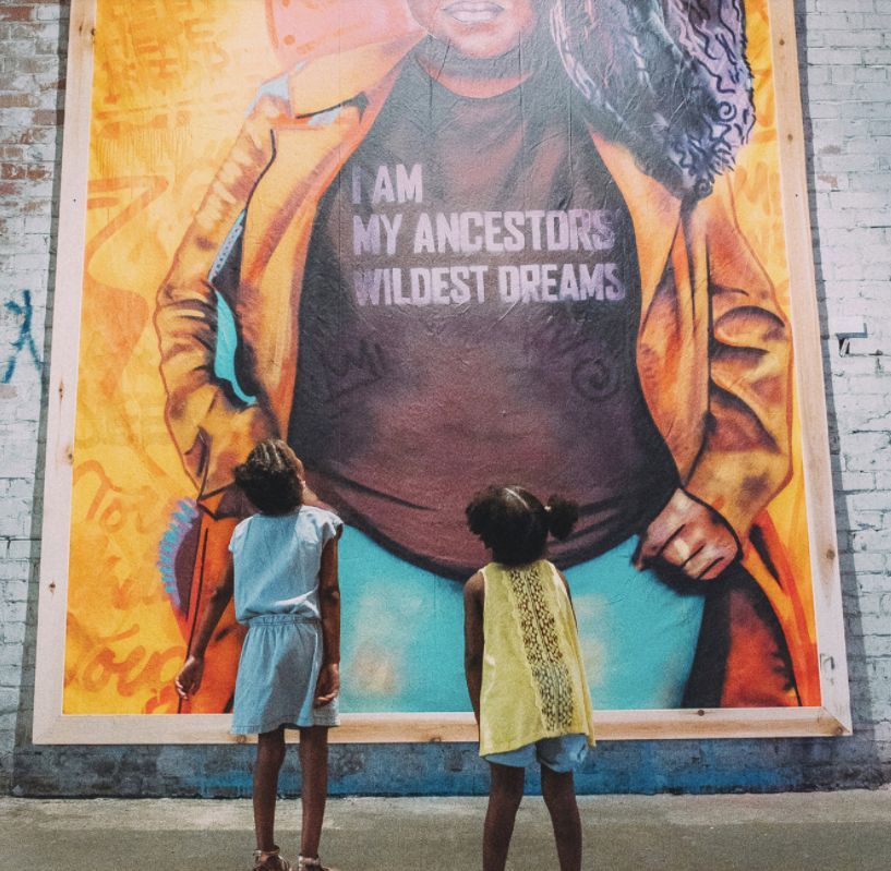 "A mural in Brandan Odums' ""Studio Be"" exhibit (2017)."