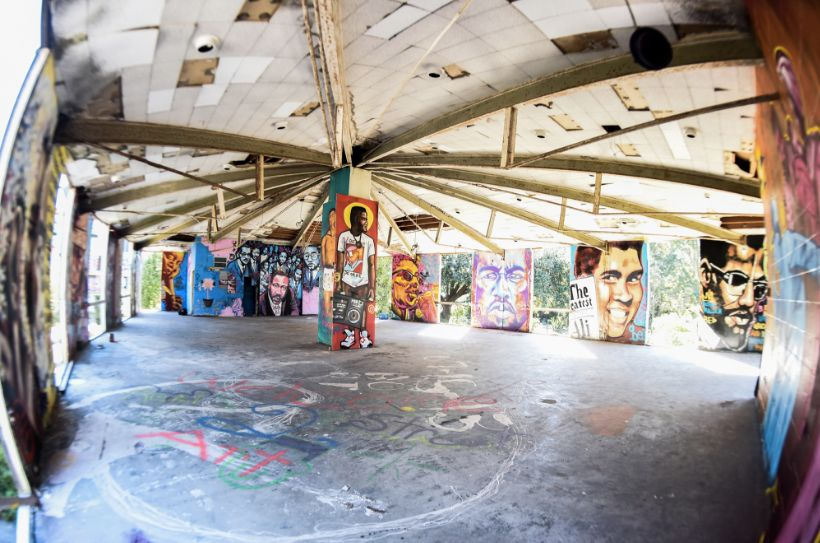 "A look at artwork inside Brandan Odums' ""ExhibitBe"" (2014)."