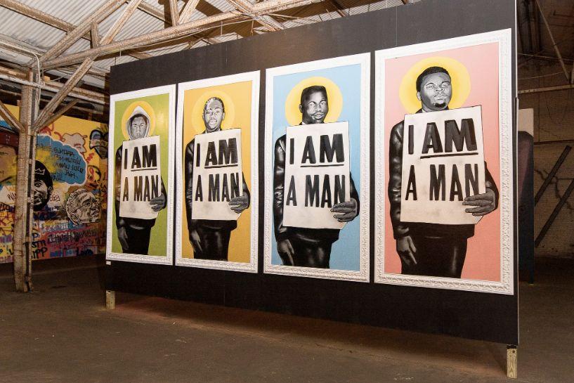 "A portrait series in the ""Studio Be"" exhibit (2017)."