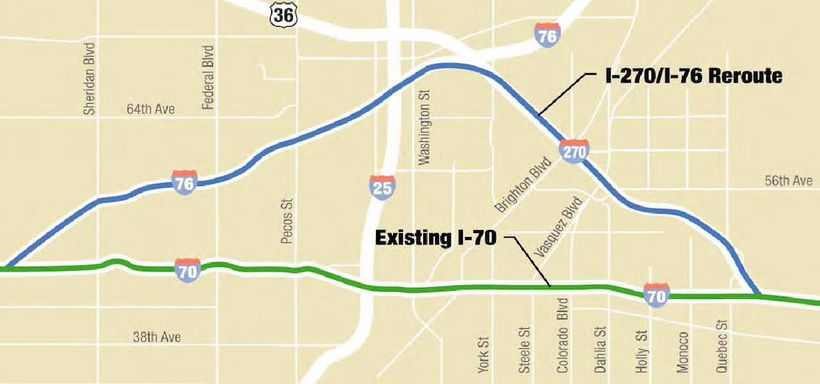 Alternate I-270/I-76 Reroute