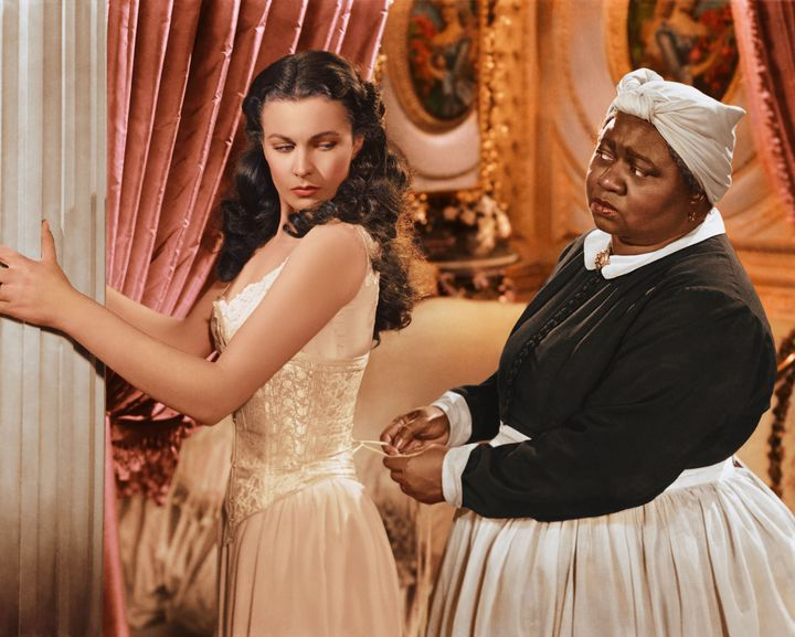 "Vivien Leigh and Hattie McDaniel in a publicity still from ""Gone with the Wind."""