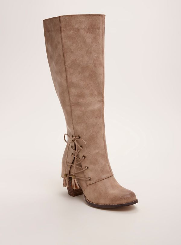 """<a href=""""http://www.torrid.com/product/lace-up-knee-high-heel-boots-wide-width-wide-calf/10965582.html?cgid=shoes-boots"""" targ"""