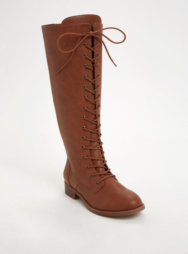"""<a href=""""http://www.torrid.com/product/faux-leather-lace-up-knee-high-boots-wide-width-wide-calf/10908527.html#q=over%2Bthe%2"""
