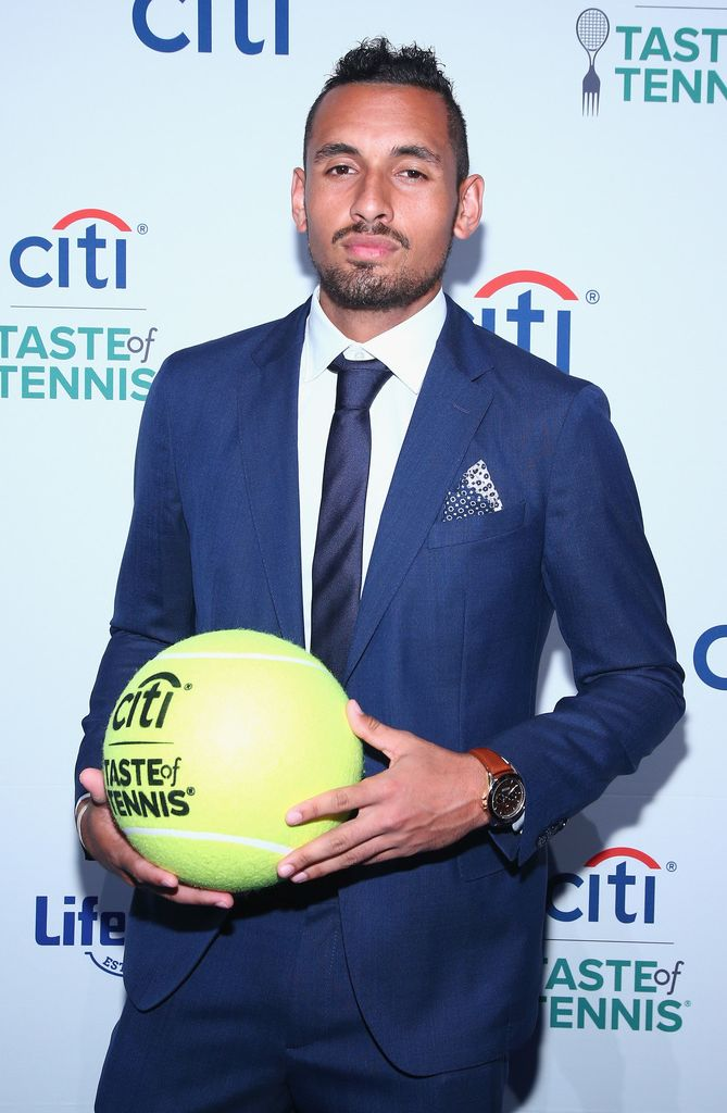 Tennis player Nick Kyrgios attends Citi Taste Of Tennis at W New York on August 24, 2017 in New York City.