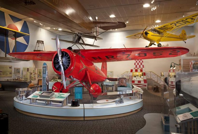 Your kids may remember seeing Amelia Earhart's Lockheed Vega — on exhibit at the Barron Hilton Pioneers of Flight Gallery — i