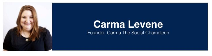 "<a rel=""nofollow"" href=""https://www.linkedin.com/in/carmalevene/"" target=""_blank"">Carma Levene</a>, Founder at <a rel=""nofoll"