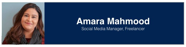 "<a rel=""nofollow"" href=""https://www.linkedin.com/in/amaramahmood"" target=""_blank"">Amara Mahmood</a>, Social Media Manager at"