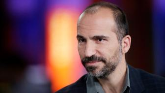 Dara Khosrowshahi, chief executive officer of Expedia Inc., pauses during a Bloomberg Television interview in London, U.K. on Wednesday, Oct. 2, 2013. Expedia Inc. reported second-quarter profit and revenue in August that missed analysts' estimates, leading to a 27 percent plunge in the stock, the steepest in eight years. Photographer: Matthew Lloyd/Bloomberg via Getty Images