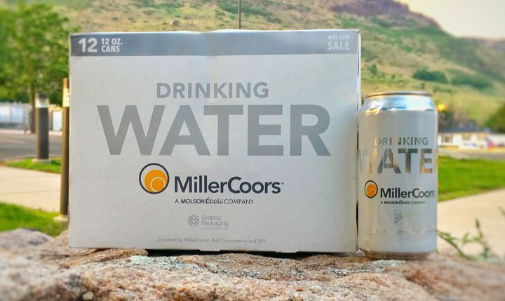 MillerCoors said it is sending 50,000 cans of drinking water to parts of Texas in response to Hurricane Harvey.
