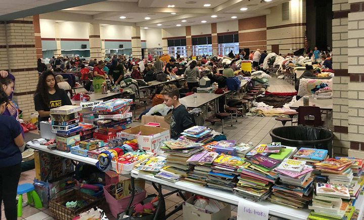 Books and games for children were donated to the shelter at Cinco Ranch High School.