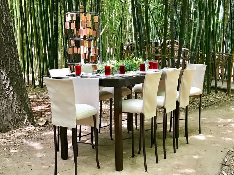 You can experience a special lunch with the Golden Door Chef and his special guest in the Bamboo Garden at the Golden Door.