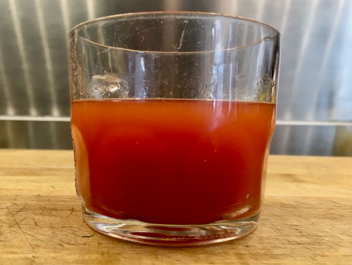 Aim for this density when diluting your tomato pulp-broth