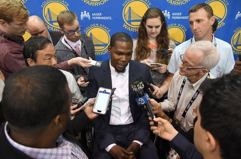 NBA superstar Kevin Durant has had a contentious relationship with traditional sports media outlets throughout his playing ca