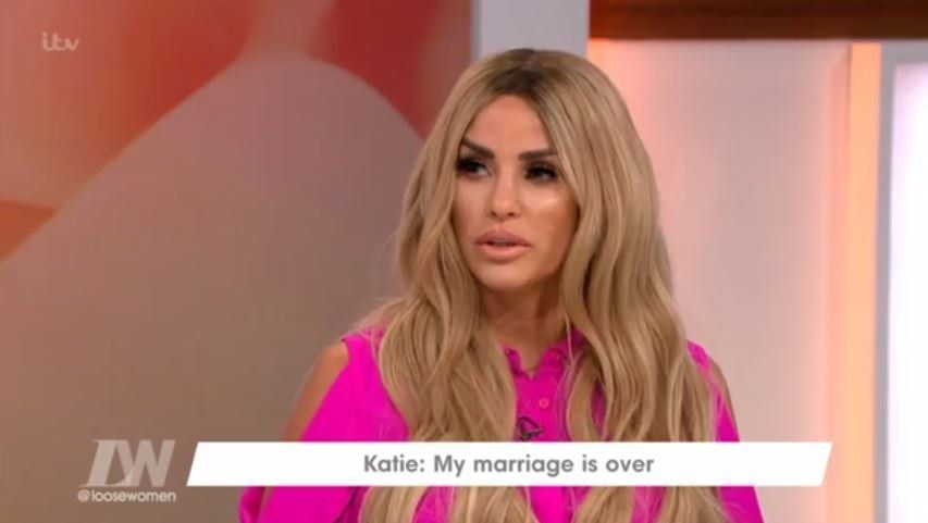 Katie Price appeared on the 'Loose Women' panel following her divorce