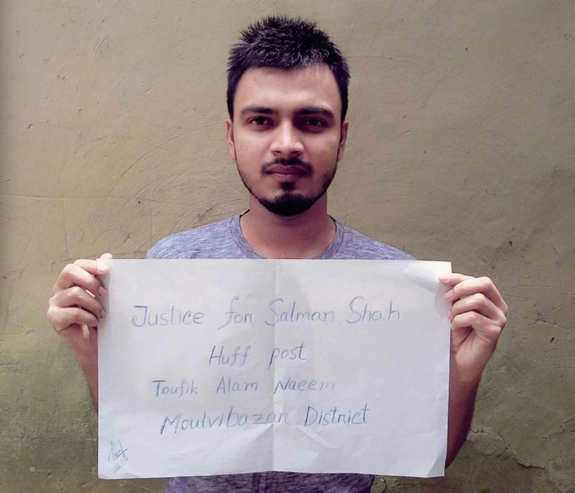 """Millions of youths in Bangladesh joined the protest to promote Huff Post article to secure """"Justice For Salman, includin"""
