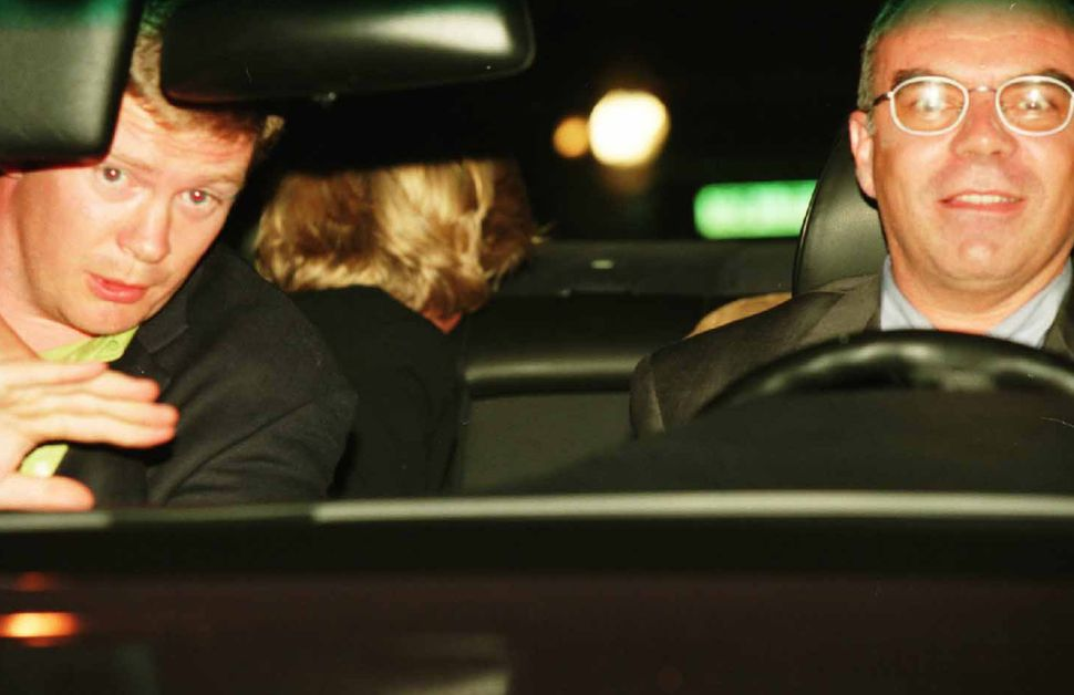 This photo was taken in Paris on the night of August 31, 1997, and shows Diana (head turned away in backseat), her bodyg