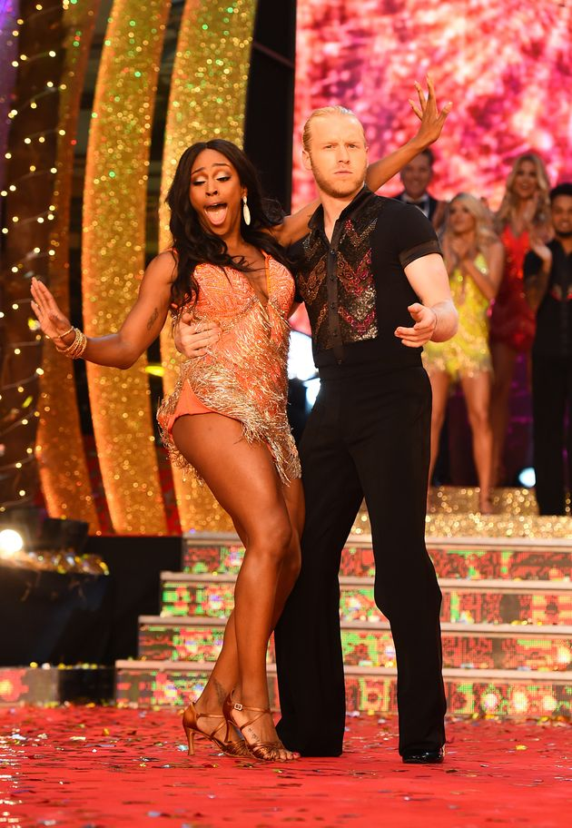 Alexandra with Jonnie Peacock at the 'Strictly'
