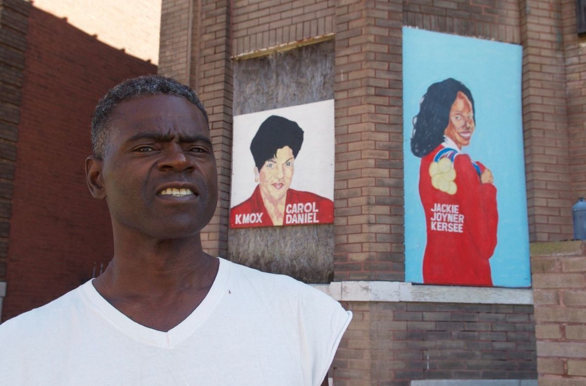 The St Louis nonprofit Better Family Life commissioned local artist Chris Green to paint murals of prominent African-Americans and post them on blighted buildings